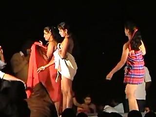 Dancing Exotic Indian Nude Public Striptease