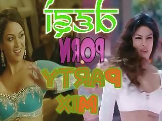 Cumshot Dancing Indian Party Striptease